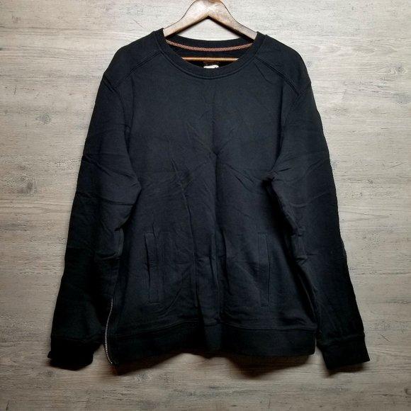 Mossimo Side Zip Crewneck Sweatshirt. Brand New!